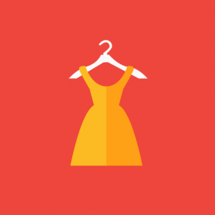 Media on Mars blog post thumbnail: Graphic of a dress on a hanger