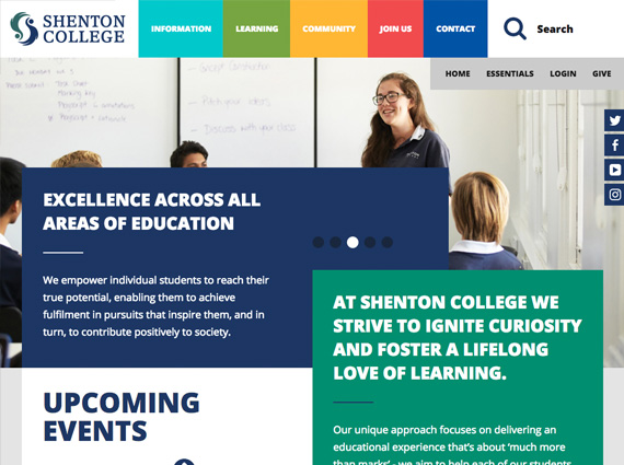 Shenton College: tablet screenshot