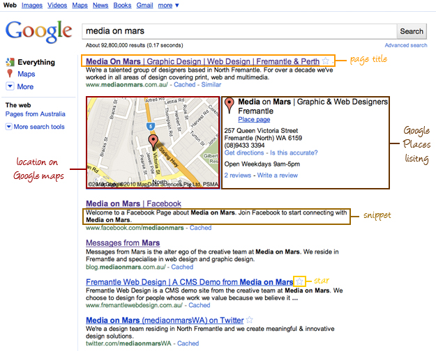 how to find google search results