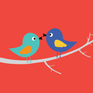 Media on Mars blog post thumbnail: two birds on branch illustration