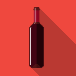 Media on Mars blog post thumbnail: red wine bottle illustration
