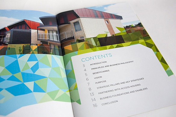 Access Housing Annual Report inside contents page