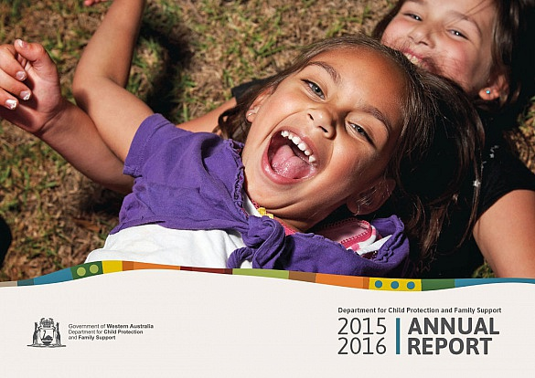 Department for Child Protection and Family Support annual report cover
