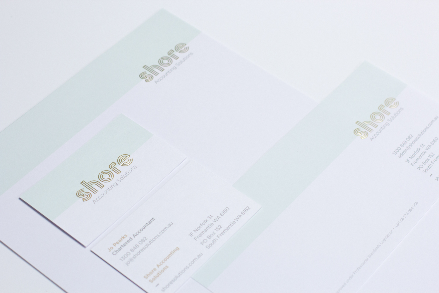Shore Solutions Business Card and Letterhead