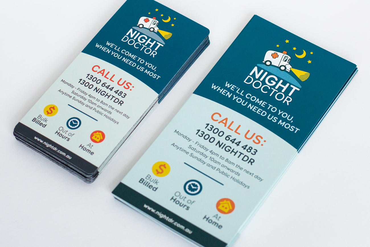 Night Doctor leaflets and magnets