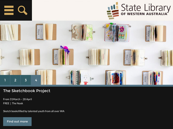 State Library of Western Australia: tablet screenshot