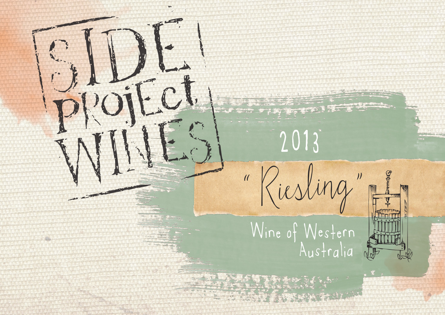 Side Project Wines riesling label
