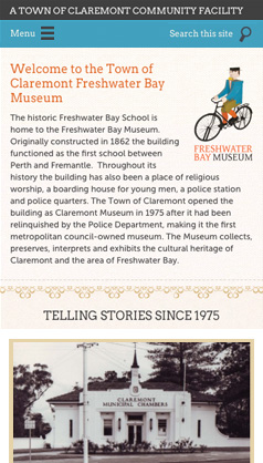 Freshwater Bay Museum: mobile phone screenshot