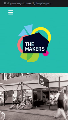 The Makers: mobile phone screenshot
