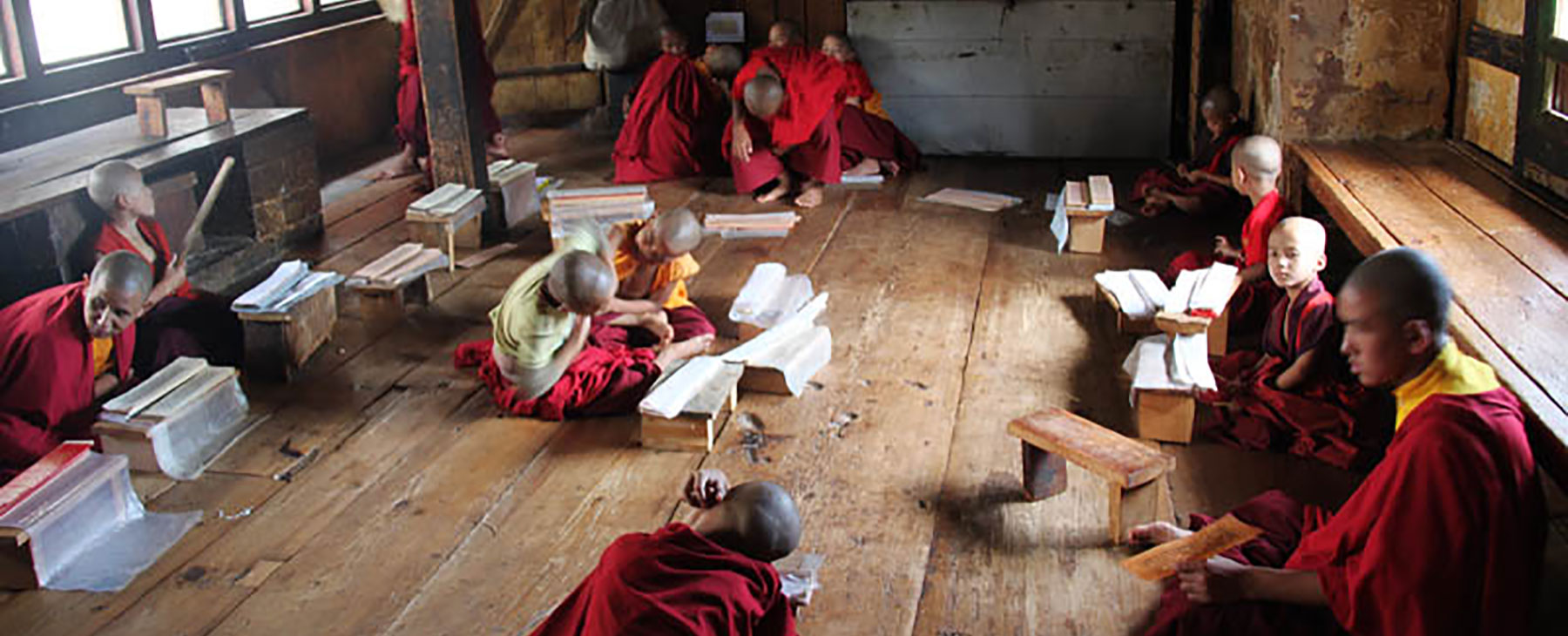 Young trainee monks in Bhutan