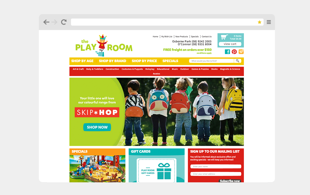 New website for The Play Room