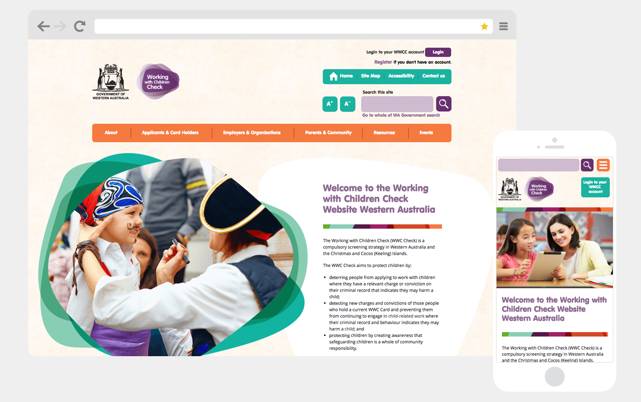 New website for Working With Children Check