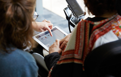 Media on Mars video category thumbnail: Women using iPad