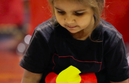 Media on Mars video thumbnail: Young aboriginal child playing in a play centre