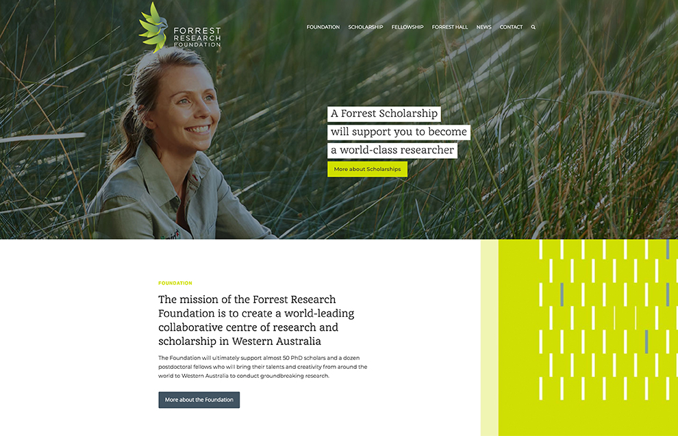 Forrest Research Foundation: desktop screenshot